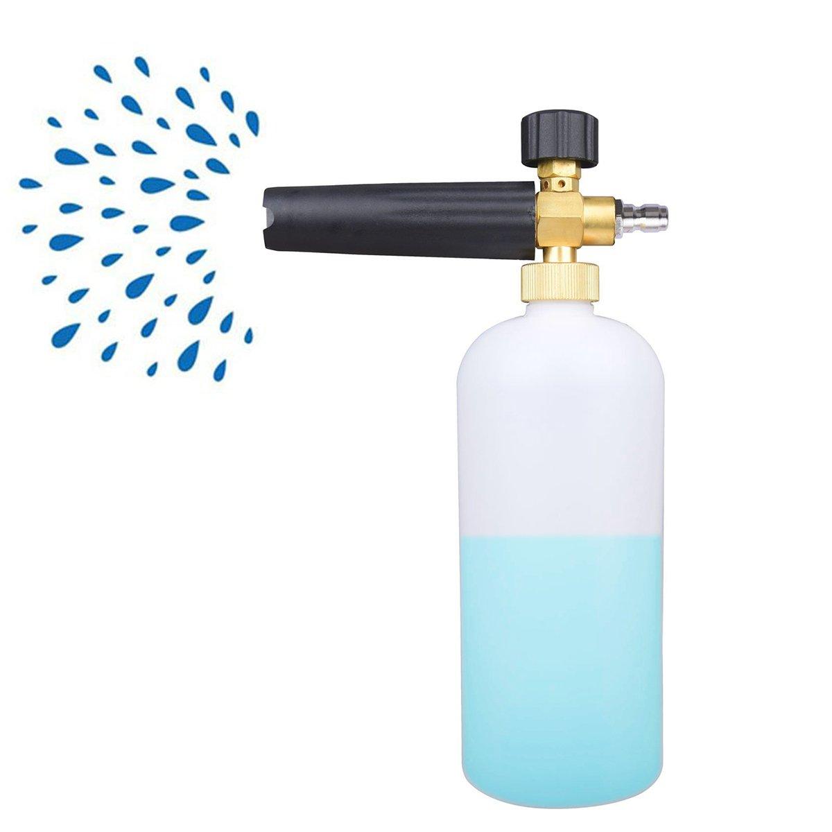 Immuson Pressure Washer Jet Wash 1/4'' Quick Release Adjustable Snow Foam Lance Foam Cannon for Pressure Washer Gun