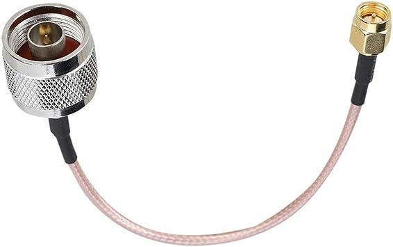 Bewinner Cable de conexión Sew, 1pcs 15 cm RG316 Militar, Cable de conexión SMA Macho a Tipo N Macho para Aplicaciones de RF, Antenas, Dispositivos de ...