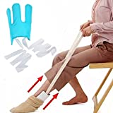 Sock Aid, Sock Slider Kit Do not Mix Stretch Stock Helper, Pulling Assist Device,Compression Sock Helper Aide Tool for Farmers, Pregnant women, The elderly and disabled