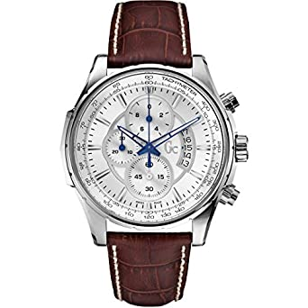 Guess Collection Herren-Armbanduhr 44mm Armband Leder Braun GehÄuse Edelstahl Batterie Analog X81001G1S