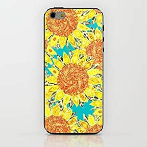 QYF Sunflower Pattern hard Case for iPhone 6