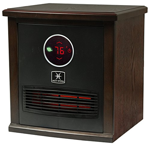 Heat Storm Smithfield Classic Indoor Portable Infrared Space Heater - 1500 Watt - Stylish - Built in Thermostat & Overheat Sensor - Remote Control - Perfect For Any Room EnergyWise Solutions Infrared