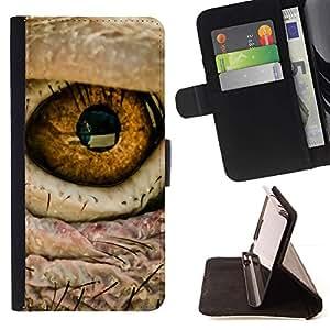 Momo Phone Case / Flip Funda de Cuero Case Cover - Ojo de pájaro intenso Macro Foto Fuego - LG G2 D800