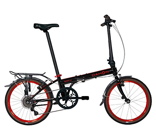 Dahon Speed D7 Street 20'' 7 Speed Folding Bicycle (Black/Red) by Dahon (Image #1)