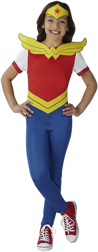 DC Comics - Disfraz de Wonder Woman oficial para niña, infantil 7 ...