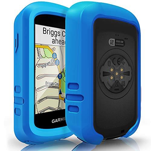 TUSITA Case for Garmin Edge 830 – Silicone Protective Cover – Cycling GPS Computer Accessories (Blue)