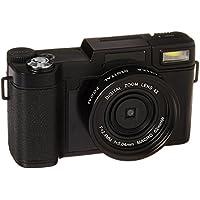 Digital Camera Camcorder 24MP Vlogging Camera Full HD 1080p Camera Flip Screen 180 Degree Rotation With Wrist Strap