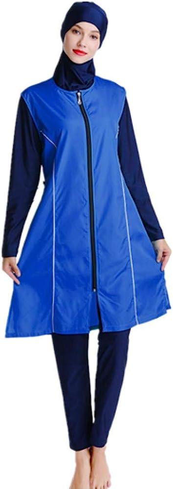 CaptainSwim Women Modest Muslim Swimsuit Full Coverage Swimwear Islamic Hijab Ladies Beachwear Swimming Burkini Swim Suit