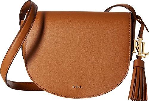 LAUREN Ralph Lauren Women's Dryden Caley Mini Saddle Field Brown/Monarch Orange One Size