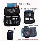 Double Bag Diabetic Travel Organizer Cooler Bag-for Insulin,Supply Kits,,W/2xice Pack Included - (Black) ...