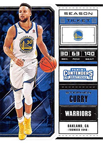 2018-19 Panini Contenders Draft Picks Basketball Season Ticket #49 Stephen Curry Golden State Warriors Official NBA Trading Card
