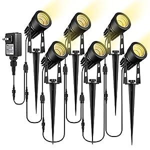 ECOWHO Low Voltage Landscape Lights, Landscape Lighting 12V LED Outdoor Spot Lights Plug in Waterproof Garden Lights for…