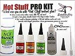 Hot Stuff Instant Glue Pro Kit (Includes CA Glues, Accelerator, Debonder, Extra Spouts) HK-1