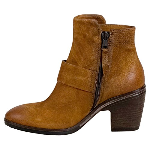 Miz Mooz Bubbles Womens High Heel Boot Tan
