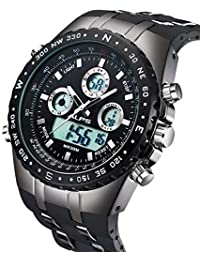 Watch Mens Watches Sport Military Digital Multifunction Waterproof LED Calendar Chronograph Alarm