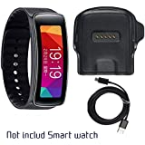 Gear Fit Charger, Samsung Gear Fit R350 Charging Cradle Dock, AnoKe Smart Watch Replacement Portable Charging Docking Station Cradle Dock + USB Cable Cord For (SAMSUNG R350 Dock)