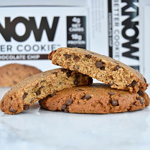 Review KNOW Foods Gluten Free, Low Carb, Protein Cookies, Chocolate Chip, 4g Net Carbs – 4 Count (Packaging May Vary)
