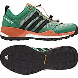 adidas outdoor Women's Terrex Skychaser Core Green/Black/Easy Orange 7 B US For Sale