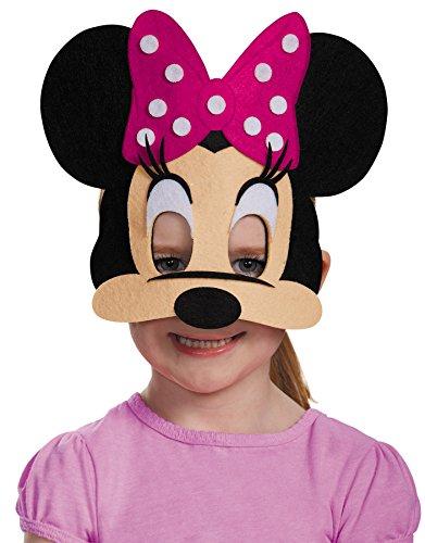Costume Mask Minnie Mouse Pink Felt Child Costume Mask -Scary -