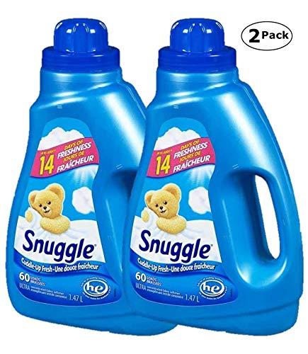 Snuggle HE Cuddle-Up Fresh Ultra Fabric Softener, 60 Loads 1.47 L / 50 Fl.oz - 2 Packs
