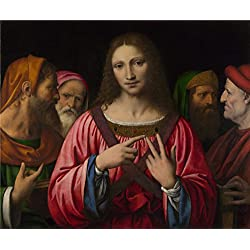 Oil Painting 'Christ Among The Doctors 1515-30, Bernardino Luini', 12 x 14 inch / 30 x 37 cm , on High Definition HD canvas prints is for Gifts And Bar, Bed Room And Garage Decoration
