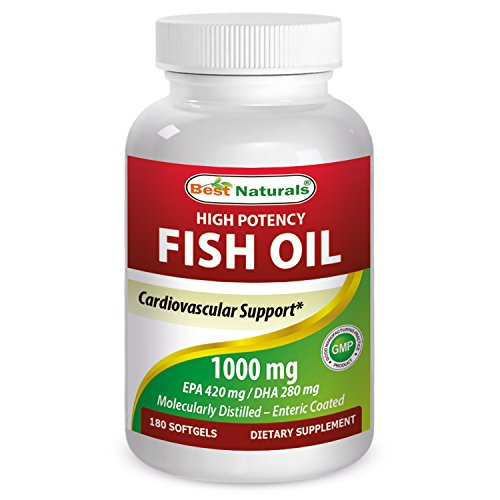 Best Naturals High Potency Omega-3 fish Oil 1000 mg 180 (High Potency Natural Salmon Oil)