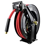 Milton 2780-50D - Steel Dual Arm Auto-Retractable Air Hose Reel, 1/2'' x 50 ft. Rubber Hose - 300 Max PSI