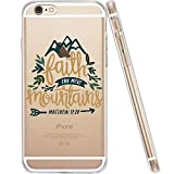 iPhone 6 Case,iPhone 6s Case,Bible Quotes Matthew 17:20 Faith Can Move Mountains Christians Belief Clear TPU Protective Case Cover for iPhone 6/6S