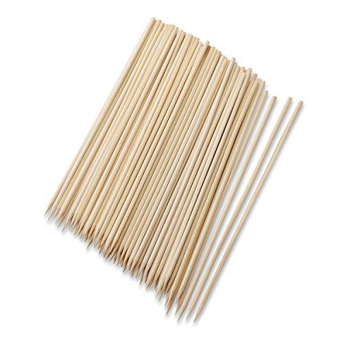 Juvale Barbecue Skewers Set - 300 Piece, Natural Bamboo Wood Sticks, Shrimp, Smores, BBQ Skewers, Marshmallow Sticks, 12 Inches