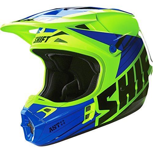 - Shift Racing Assault Men's Off-Road Motorcycle Helmets - Yellow/Blue / X-Large