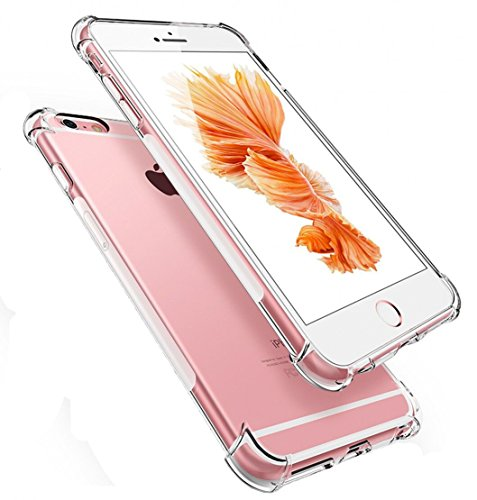 West Basics iPhone 8 Case, iPhone 7 Case, Apple iPhone 7/8 Crystal Clear Shock Absorption Bumper Soft TPU Cover Cases for iPhone 7 / iPhone 8