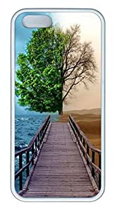 Brian114 iPhone 5S Case, iPhone 5S Cases - Customed Painted Colorful iPhone 5s Covers Opposite View Soft Rubber White Cases for iPhone 5/5S