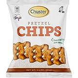 Chuster Pretzel Chips Individual Snack Packs, 100 calories, 30 1.1 oz packs per case, Kosher
