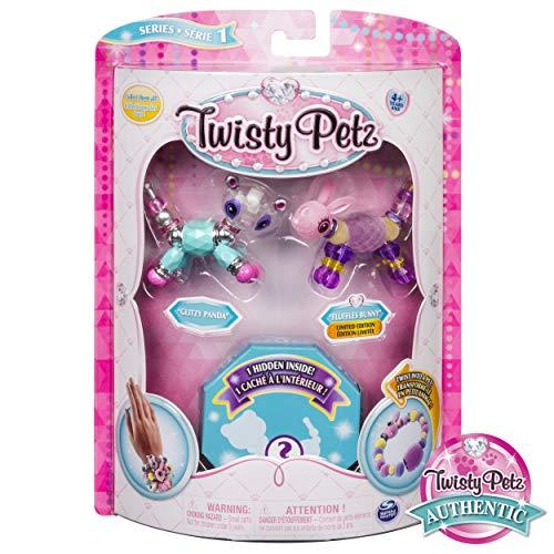 Twist Animal - Twisty Petz Collectible Bracelet Set, Panda, Bunny & Surprise Pet 3-Pack