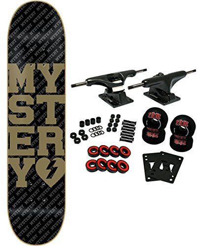 MYSTERY Skateboard Complete COLLEGIATE GOLD 7.625