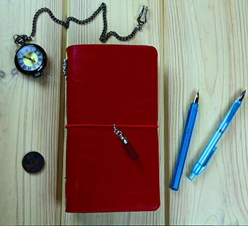 Movies I Watch Faux Leather Pink Notebook with Three Refills Including Pockets PVC Zipper Pouch and Charm