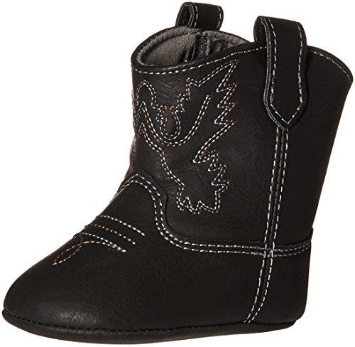 Baby Deer Baby 02-4668 Western Boot, Black, 3 Child US Infant