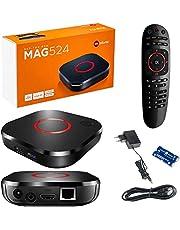 MAG 524 Original Infomir IPTV Set Top Box 4K UHD 2160p 60FPS Multimedia Speler Internet TV IPTV Receiver Smart TV / HEVC H.256 Ondersteuning - ARM Cortex-A53 (HDMI 2.1, Ethernet, USB 3.0) + HDMI-kabel