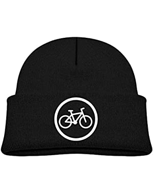 Funny Bicycle Logo Printed Toddlers Baby Winter Hat Beanie