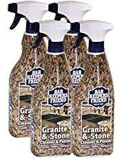Bar Keepers Friend Granite & Stone Cleaner & Polish (25.4 oz) Granite Cleaner for Use on Natural, Manufactured & Polished Stone, Quartz, Silestone, Soapstone, Marble - Countertop Cleaner & Polish