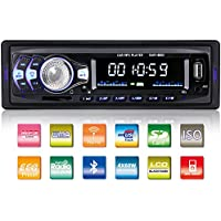 Homder Car Stereo with Bluetooth In-Dash Single Din Car Radio, Car MP3 Player USB/SD/AUX/Wireless Remote Control
