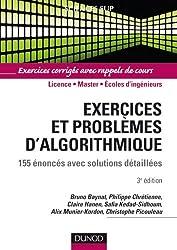 Exercices et problèmes d'algorithmique - 3e édition - 155 énoncés avec solutions détaillées