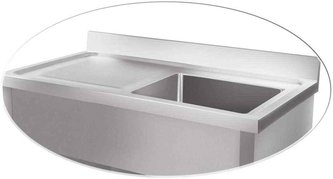 Royal Catering - RCHS-1200WS - Fregadero de Acero Inoxidable - 120 cm: Amazon.es: Jardín