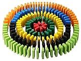YBB 1026 pcs Wooden Dominoes Set Racing Games Domino Blocks Set(12 Colors,with 3 Storage Bag)