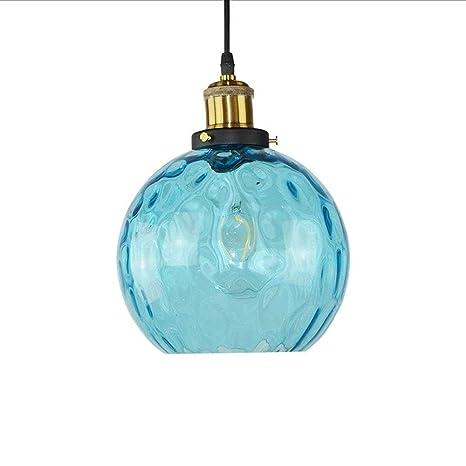 Amazon.com: Muenm - Lámpara de techo con cristal azul para ...