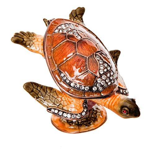 Jeweled Sea Turtle - Alexander Kalifano Jeweled Sea Turtle Crystal Gift Box, Made with Swarovski Elements Crystals