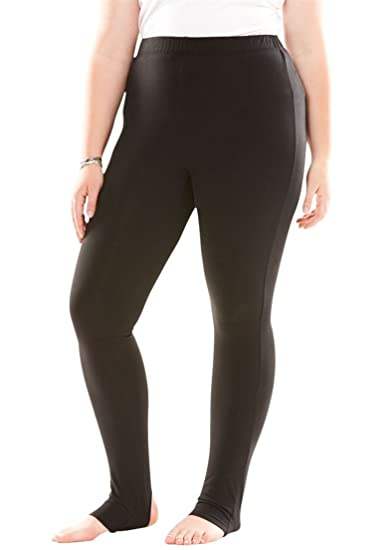 3a197c250e7 Roamans Women s Plus Size Stirrup Legging - Black