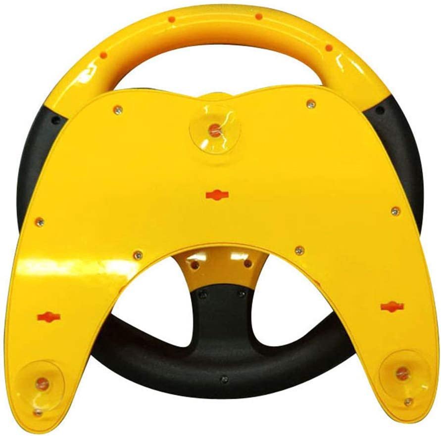 Yellow Toygogo Childrens Steering Wheel Toys,Turn and Learn Driving for Kids with Music Childhood Educational Toy Gift for Kids
