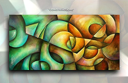 Geometric Abstract Modern ART Giclee Canvas Print of an Original Painting By Michael Lang 24
