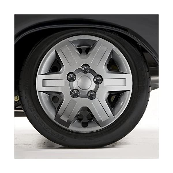 Upgrade-Your-Auto-Set-of-Four-16-Silver-Hubcap-Wheel-Covers-for-2009-2016-Dodge-Caravan-Push-on